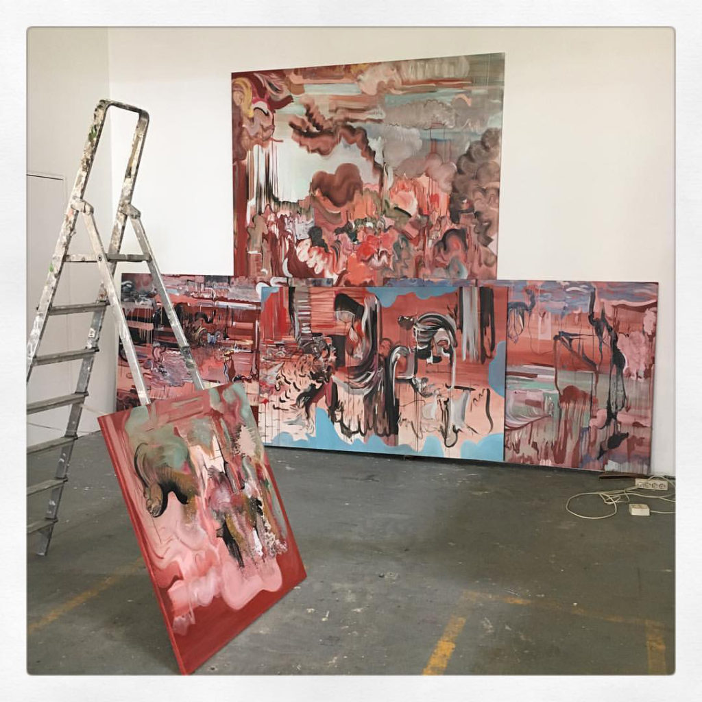 """Diana Roig: """"A painting is never safe from being worked on as long ..."""
